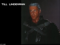 Rammstein Till Lindemann-black Wallpaper
