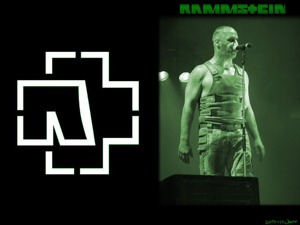 Rammstein Till Green Wallpaper
