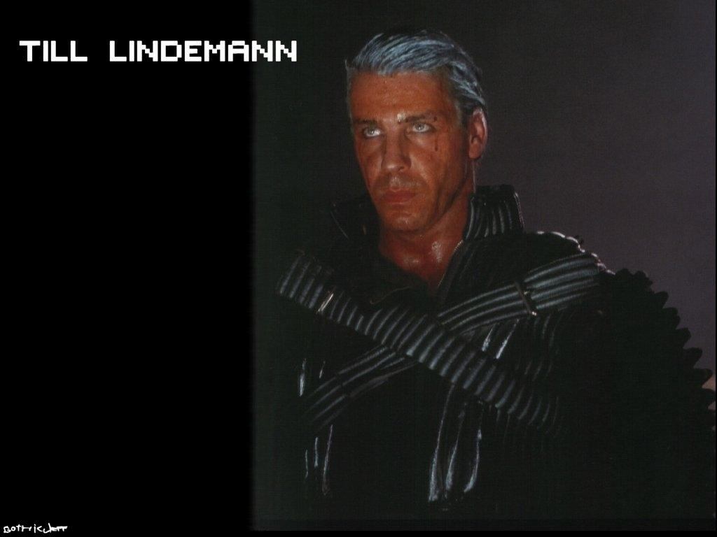 Rammstein Till Lindemann-black Wallpaper